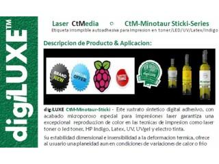 Etiquetas Sinteticas para impresion en toner/Laser digiLUXE Minotaur