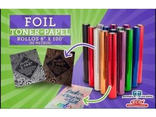 Foil en rollo toner papel